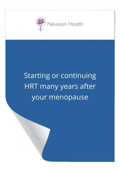 Starting or continuing HRT many years after your menopause